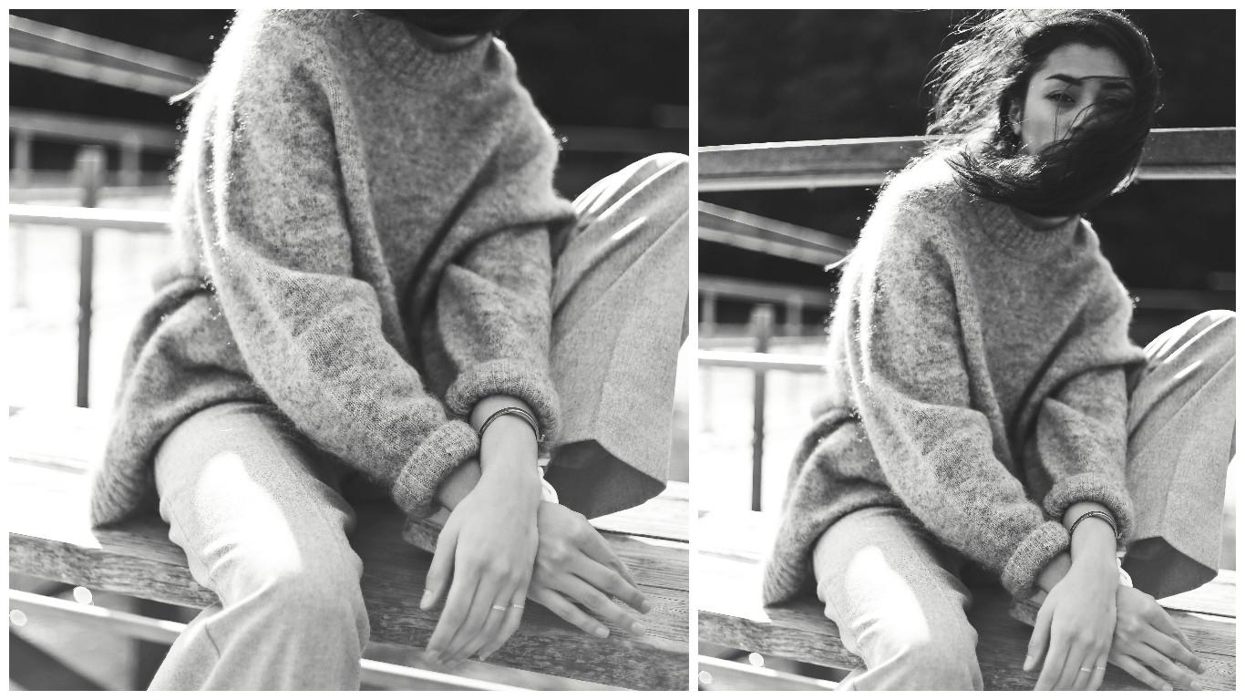 knit wear, knitwear, weekend knitwear, comfy wear, chic comfy wear, knitwear editorial, knit wear, knit editorial, all grey, greyoutfit, grey, knits, chunky knits, mowoblog