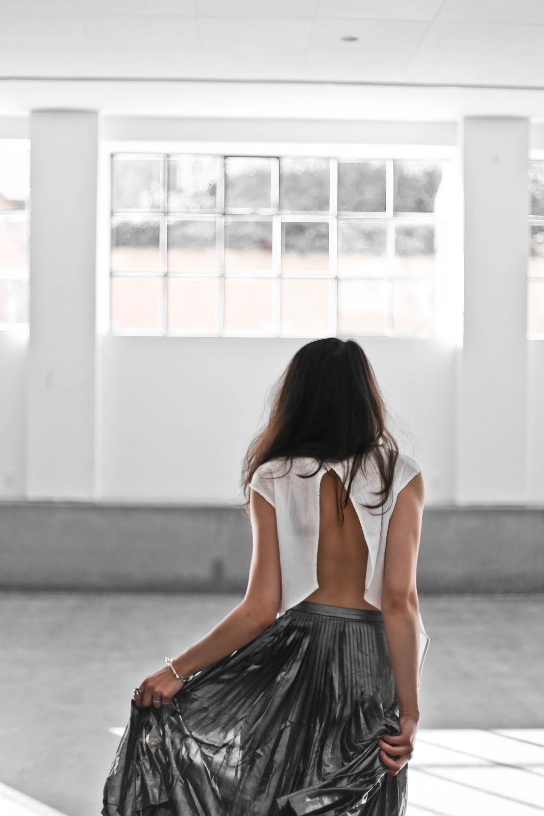 Skirt, top, third form top, maiko top, fashion blogger, blogger, danish fashion blogger, pleated skirt, high neck top